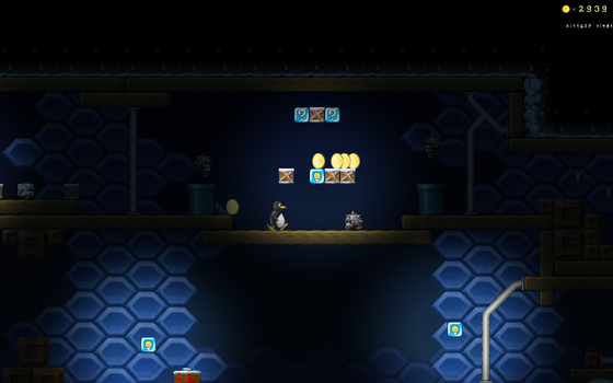 "Screenshot of the ""Crystal Mine"" level"